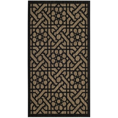 Narooma Black/Beige Area Rug Rug Size: Rectangle 8 x 112