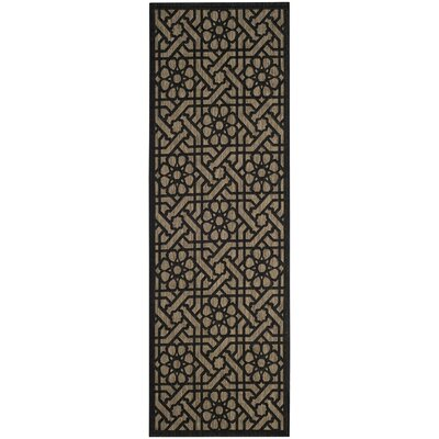 Narooma Black/Beige Area Rug Rug Size: Rectangle 27 x 5