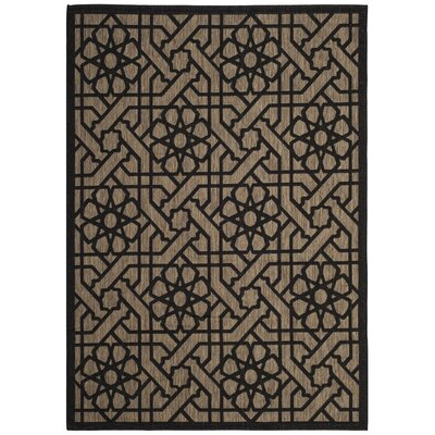 Narooma Black/Beige Area Rug Rug Size: Rectangle 53 x 77
