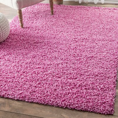 Harlan Pink Area Rug Rug Size: 53 x 8