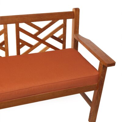 Telleman Outdoor Sunbrella Bench Cushion Size: 48 W x 19 D, Fabric: Canvas Rust