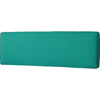 Telleman Outdoor Sunbrella Bench Cushion Fabric: Canvas Teal, Size: 60 W x 19 D