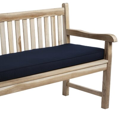Telleman Outdoor Sunbrella Bench Cushion Size: 48 W x 19 D, Fabric: Canvas Navy