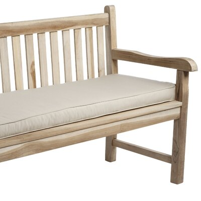 Telleman Outdoor Sunbrella Bench Cushion Size: 48 W x 19 D, Fabric: Canvas Antique Beige