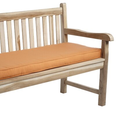 Telleman Outdoor Sunbrella Bench Cushion Fabric: Canvas Tangerine, Size: 60 W x 19 D
