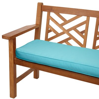 Telleman Outdoor Sunbrella Bench Cushion Size: 48 W x 19 D, Fabric: Canvas Aruba