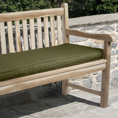 Telleman Outdoor Sunbrella Bench Cushion Size: 48 W x 19 D, Fabric: Cilantro Green