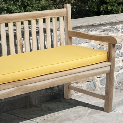 Telleman Outdoor Sunbrella Bench Cushion Size: 48 W x 19 D, Fabric: Sunflower Yellow