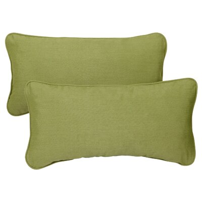 Derrytown Indoor/Outdoor Sunbrella Lumbar Pillow Color: Spectrum Cilantro, Size: 13 H x 20 W