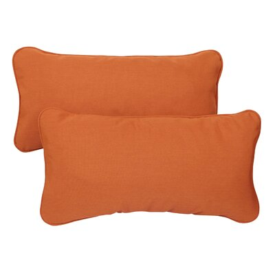 Derrytown Indoor/Outdoor Sunbrella Lumbar Pillow Color: Tangerine, Size: 13 H x 20 W