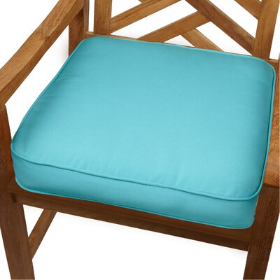 Grenore Outdoor Sunbrella Dining Chair Cushion Size: 19 H x 19 W, Color: Aruba