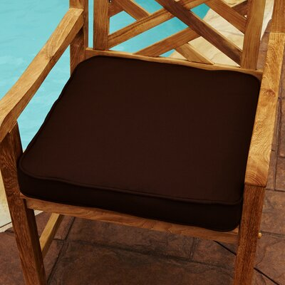 Grenore Outdoor Sunbrella Dining Chair Cushion Size: 20 H x 20 W, Color: Bay Brown