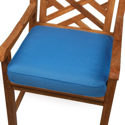 Grenore Outdoor Sunbrella Dining Chair Cushion Size: 19 H x 19 W, Color: Capri