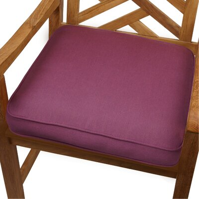 Grenore Outdoor Sunbrella Dining Chair Cushion Size: 19 H x 19 W, Color: Iris