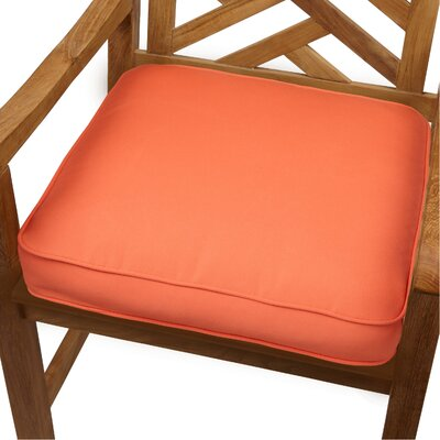 Grenore Outdoor Sunbrella Dining Chair Cushion Size: 20 H x 20 W, Color: Melon
