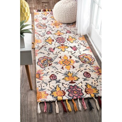 Parker Hand-Tufted Light Blue Area Rug Rug Size: Runner 26 x 8