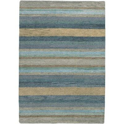 Alfano Hand-Knotted Sky Blue Area Rug Rug Size: 8 x 116