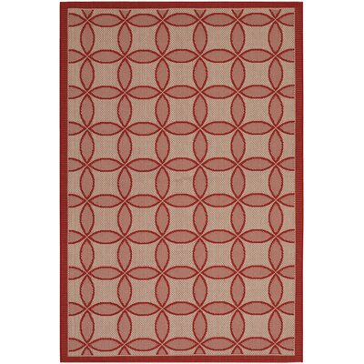 Hartman Red Retro Clover Rug Rug Size: 411 x 76