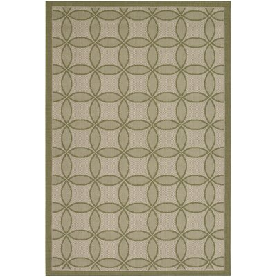 Hartman Green Retro Clover Indoor/Outdoor Rug Rug Size: Rectangle 311 x 56