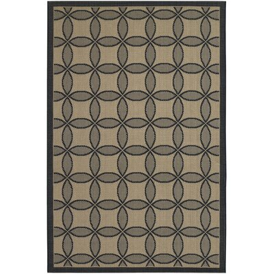Hartman Black Retro Clover Indoor/Outdoor Rug Rug Size: 2 x 37
