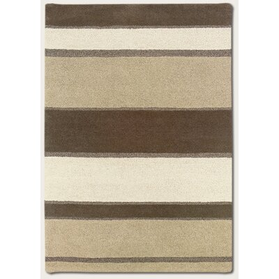 Alessandro Stripe Hand-Woven Brown/Beige Area Rug