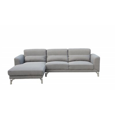 Padang Sidempuan Sectional Upholstery: Gray, Orientation: Left Hand Facing