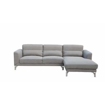 Padang Sidempuan Sectional Upholstery: Gray, Orientation: Right Hand Facing