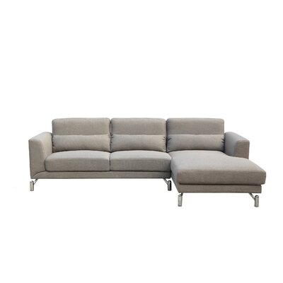 Padang Sidempuan Sectional Upholstery: Taupe, Orientation: Right Hand Facing