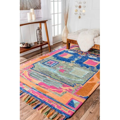 Newburyport Gold / Green / Blue Hand-Tufted Area Rug Rug Size: 5 x 8