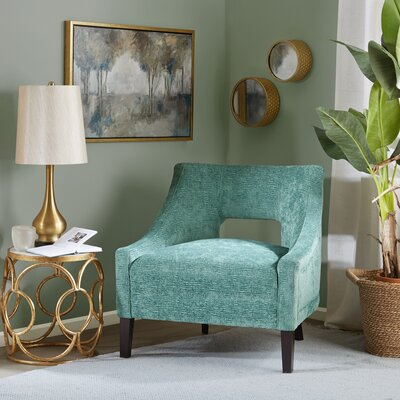 Jane Slipper Chair Upholstery: Teal