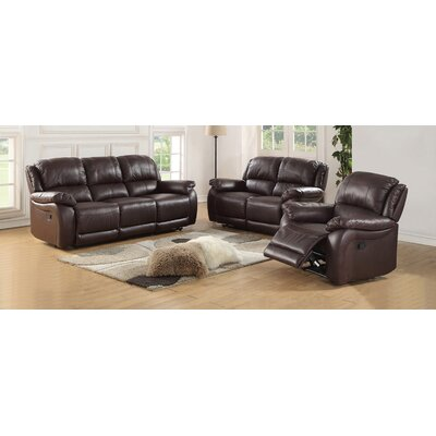 Juan Leather Sofa and Loveseat Set Upholstery: Espresso