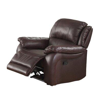 Juan Leather Recliner Upholstery: Espresso
