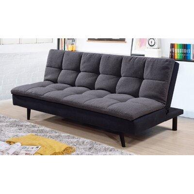 Citrana Click Clack Convertible Sofa Upholstery: Gray