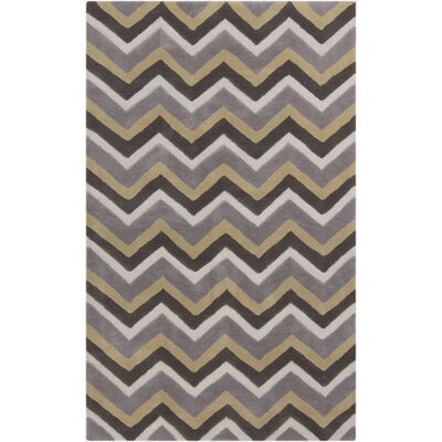 Weisgerber Gray Chevron Rug Rug Size: Rectangle 5 x 8