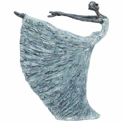 Blue Polystone Dancer Figurine
