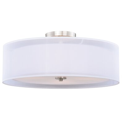 Jonathan 4-Light Semi Flush Mount Size: 12.75 H x 30 W x 30 D