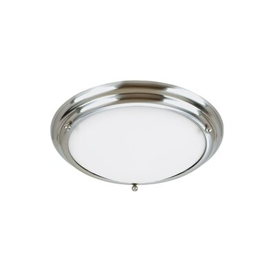 Greenbank 2-Light Flush Mount Size: 4.5 H x 18 W x 18 D