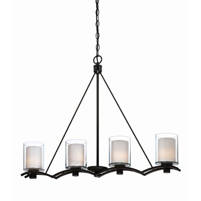 Haverville 4-Light Kitchen Island Pendant Finish: Oil Bronze