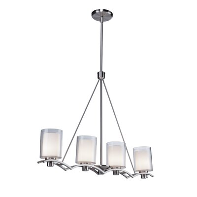 Haverville 4-Light Kitchen Island Pendant Finish: Polished Nickel