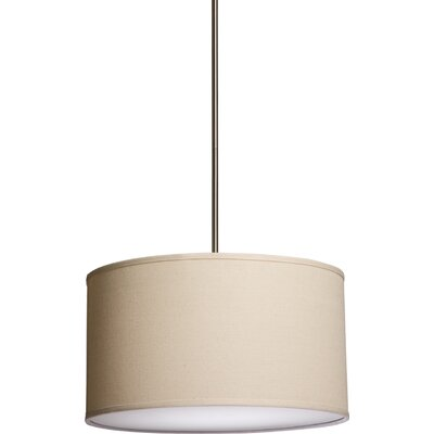 Stabile 3 Light Drum Pendant Shade Color: Oatmeal