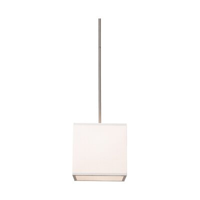 Terra 2-Light Drum Pendant Shade Color: White