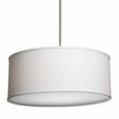 Terra 3-Light Drum Pendant Shade Color: White