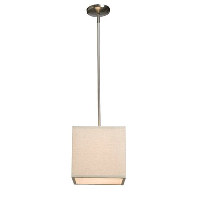Terra 1-Light Mini Pendant Shade Color: Oatmeal