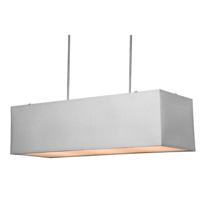 Terra 5-Light Pendant Shade Color: White