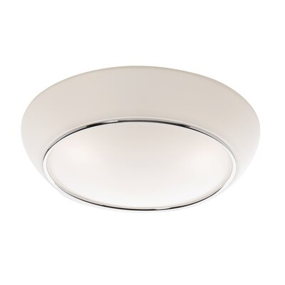 Morley Contemporary Flush Mount Size: 6 H x 14 W x 14 D
