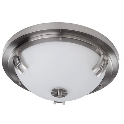 Haverville 2-Light Flush Mount Finish: Polished Nickel