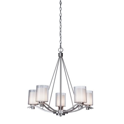 Haverville 5-Light Candle-Style Chandelier Finish: Polished Nickel