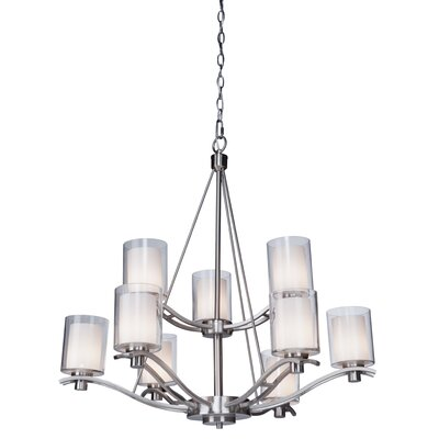 Haverville 9-Light Candle-Style Chandelier Finish: Polished Nickel
