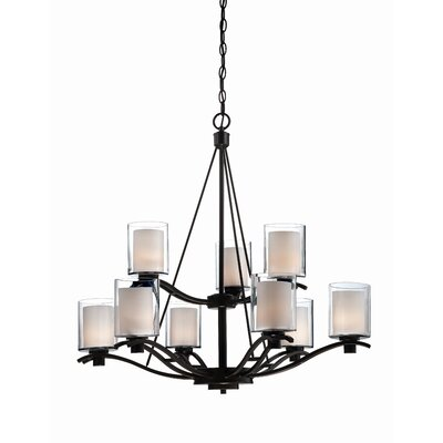 Haverville 9-Light Candle-Style Chandelier Finish: Oil Bronze