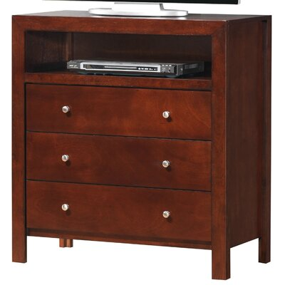 Brennen 3 Drawer Media Chest